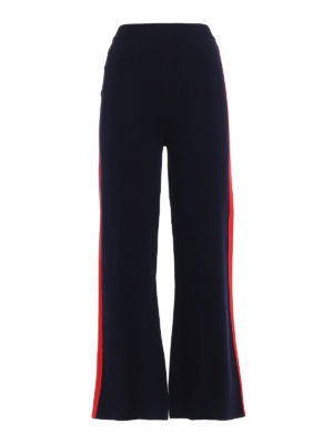 Stella Mccartney: casual trousers - Flared trousers with red stripes