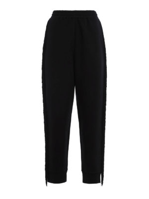 Stella Mccartney: casual trousers - Fringed jersey trousers