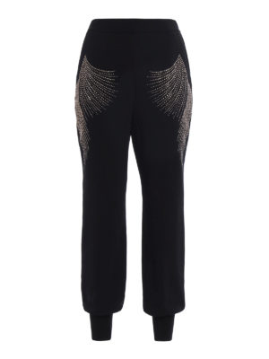 Stella Mccartney: casual trousers - Julia embellished cady trousers