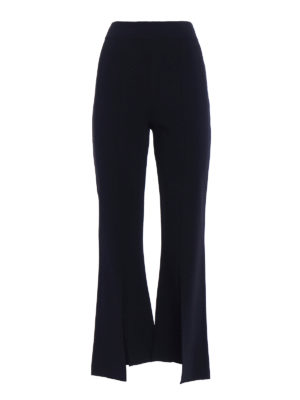 Stella Mccartney: casual trousers - Knitted slit flared trousers
