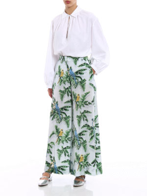 Stella Mccartney: casual trousers online - Birds of Paradise palazzo pants