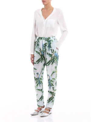 Stella Mccartney: casual trousers online - Christine tropical silk trousers