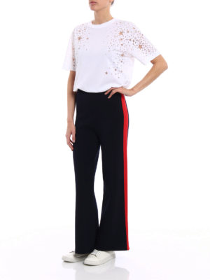 Stella Mccartney: casual trousers online - Flared trousers with red stripes