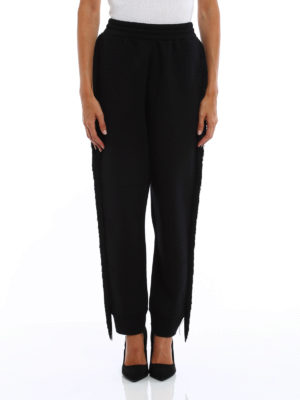 Stella Mccartney: casual trousers online - Fringed jersey trousers