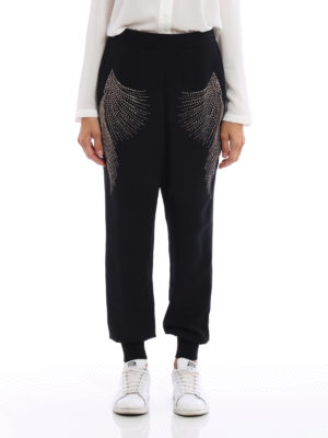 Stella Mccartney: casual trousers online - Julia embellished cady trousers