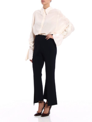 Stella Mccartney: casual trousers online - Knitted slit flared trousers