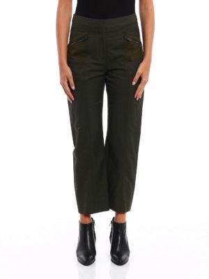 Stella Mccartney: casual trousers online - Multi pocket loden crop trousers