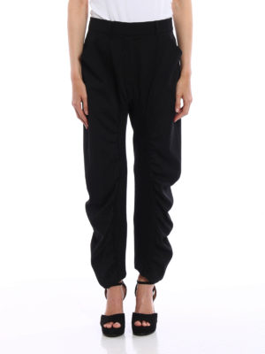 Stella Mccartney: casual trousers online - Tina wrinkled crop trousers