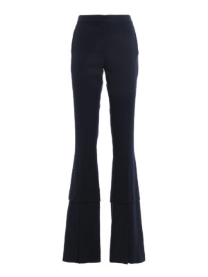 Stella Mccartney: casual trousers - Sally vented bottom trousers