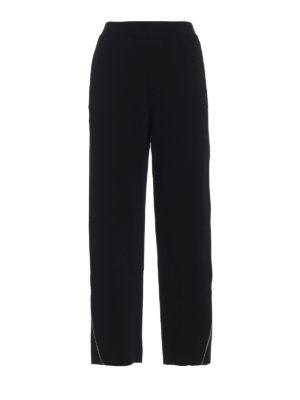STELLA McCARTNEY: pantaloni casual - Pantaloni in viscosa con zip sul fondo