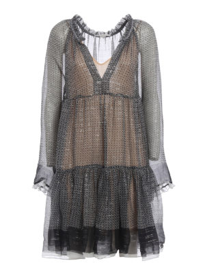 Stella Mccartney: cocktail dresses - Lurex and silk eclectic dress