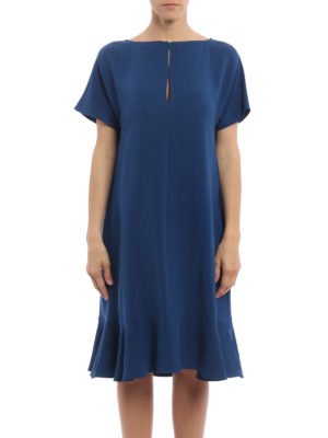 Stella Mccartney: cocktail dresses online - Straight lines crepe dress