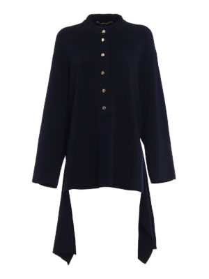 Stella Mccartney: crew necks - Cotton sweater with golden buttons