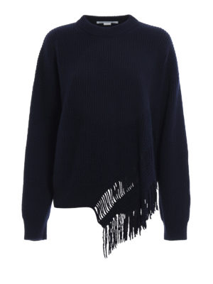 Stella Mccartney: crew necks - Fringed cashmere sweater