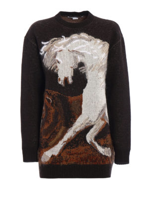 Stella Mccartney: crew necks - Mohair intarsia wool sweater