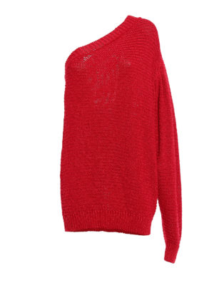 Stella Mccartney: crew necks - One shoulder knitted pullover