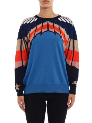 Stella Mccartney: crew necks online - Intarsia wool over sweater