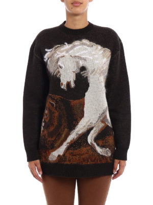 Stella Mccartney: crew necks online - Mohair intarsia wool sweater