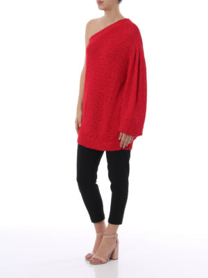 Stella Mccartney: crew necks online - One shoulder knitted pullover