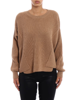 Stella Mccartney: crew necks online - Ribbed pure wool over sweater