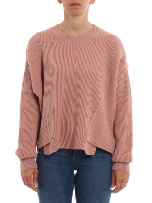 Stella Mccartney: crew necks online - Ribbed wool over sweater