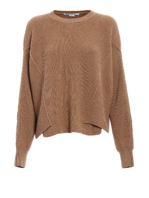 Stella Mccartney: crew necks - Ribbed pure wool over sweater