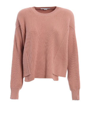 Stella Mccartney: crew necks - Ribbed wool over sweater