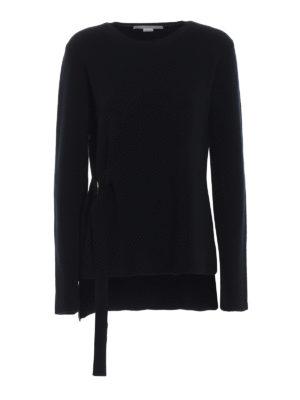 STELLA McCARTNEY: maglia collo rotondo - Maglia in lana a costine con anelli a D