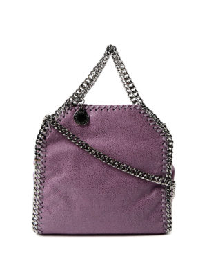 Stella Mccartney: cross body bags - Amethyst Tiny Falabella bag