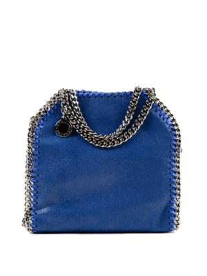 STELLA McCARTNEY: borse a tracolla - Tracolla Tiny Falabella color bluebird