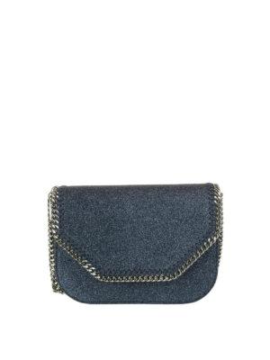 STELLA McCARTNEY: borse a tracolla - Borsetta Falabella in glitter blu