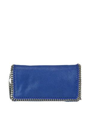 STELLA McCARTNEY: borse a tracolla - Borsa Falabella in shaggy deer blue elettrico