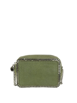 STELLA McCARTNEY: borse a tracolla - Tracolla Falabella verde oliva
