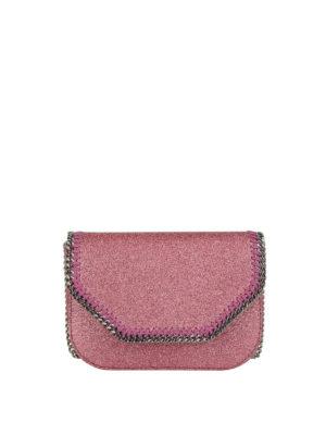 STELLA McCARTNEY: borse a tracolla - Borsetta Falabella in glitter rosa
