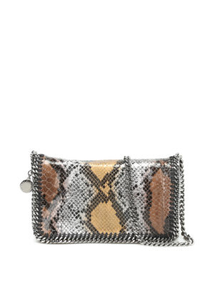 Stella Mccartney: cross body bags - Falabella python print bag