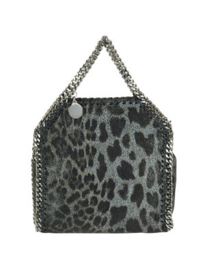 STELLA McCARTNEY: borse a tracolla - Falabella Tiny in shaggy deer animalier