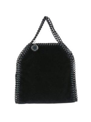 STELLA McCARTNEY: borse a tracolla - Borsetta Falabella Tiny in velluto nero