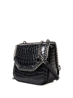 Stella Mccartney: cross body bags online - Croco Falabella Box mini bag