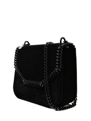 Stella Mccartney: cross body bags online - Falabella black mini cross body bag