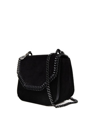 Stella Mccartney: cross body bags online - Falabella Box black velvet mini bag