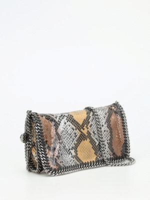 Stella Mccartney: cross body bags online - Falabella python print bag