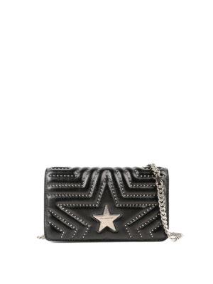 STELLA McCARTNEY: borse a tracolla - Tracollina in eco pelle motivo stella