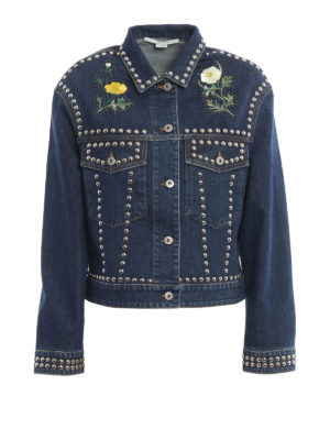 Stella Mccartney: denim jacket - Embroidered and studded jacket