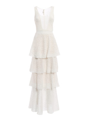 Stella Mccartney: evening dresses - Layered skirt lace evening dress
