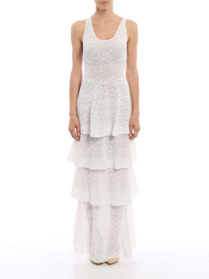 Stella Mccartney: evening dresses online - Layered skirt lace evening dress