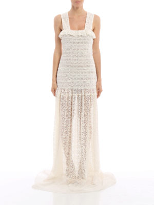 Stella Mccartney: evening dresses online - Melanie romantic lace dress