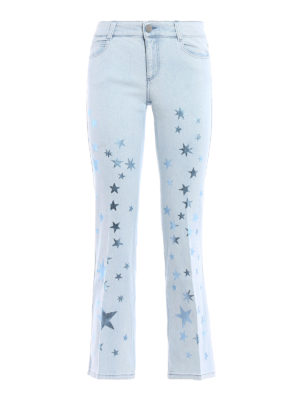 Stella Mccartney: flared jeans - Flared jeans with metallic stars