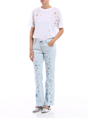 Stella Mccartney: flared jeans online - Flared jeans with metallic stars