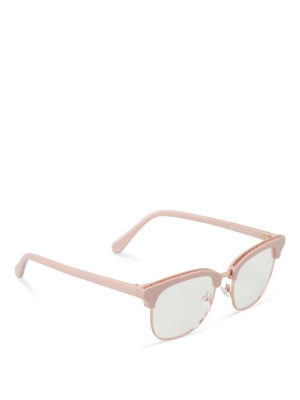 Stella Mccartney: glasses - Chain detailed pink eye glasses