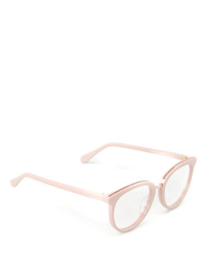 Stella Mccartney: glasses - Chain detailed pink glasses
